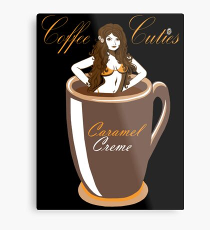 Coffee Cuties Caramel Creme Metal Print