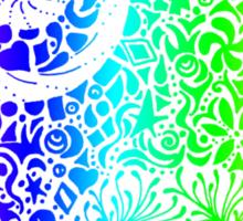 Rainbow Elephant Doodle Sticker