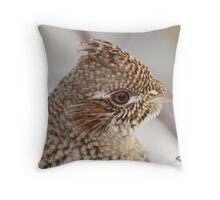 Portrait of A Grouse Throw Pillow