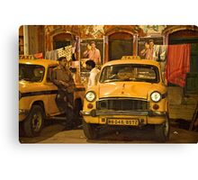 Taxi Talk Canvas Print