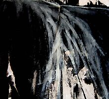 white spray falls... plateau above by banrai