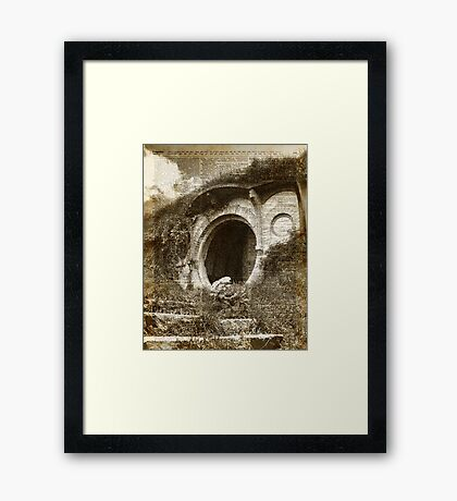 The Bag End Hobbit House Lord Of The Rings Tolkien Shire Illustration Framed Print
