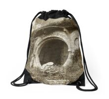 The Bag End Hobbit House Lord Of The Rings Tolkien Shire Illustration Drawstring Bag