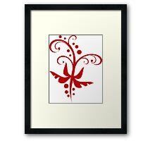 Red Paisley Framed Print