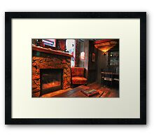 Inside a cafe Framed Print