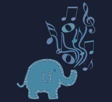blue music Kids Tee
