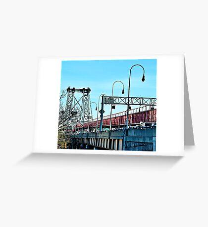 Williamsburg Bridge, NYC Greeting Card