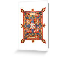 Medieval pattern design Greeting Card