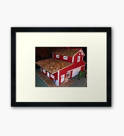Horse Barn (A Miniature) Framed Print