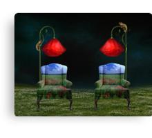 Poppy Dreams & Chameleon Schemes Canvas Print