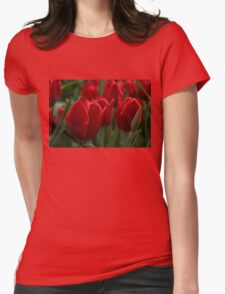 Vibrant Red Spring Tulips T-Shirt