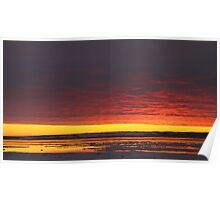Sunset Gold at Churchill, Canada Poster