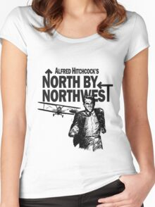 Alfred Hitchcock's North by Northwest by Burro! Women's Fitted Scoop T-Shirt