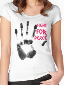 Fight for Peace Women's Fitted Scoop T-Shirt