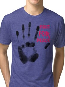 Fight for Peace Tri-blend T-Shirt
