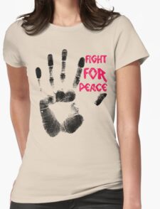 Fight for Peace Womens Fitted T-Shirt