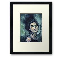 Graveyard Dust - Gothic Witch in Cemetery Framed Print
