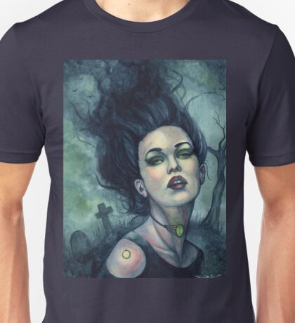 Graveyard Dust - Gothic Witch in Cemetery Unisex T-Shirt