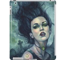 Graveyard Dust - Gothic Witch in Cemetery iPad Case/Skin