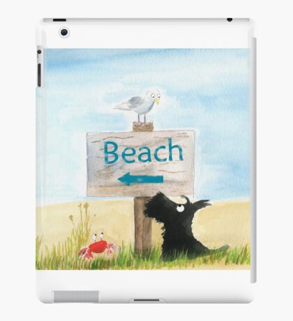 Scottie Dog 'Beach' iPad Case/Skin