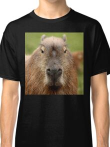 Portrait of a rather handsome capybara Classic T-Shirt