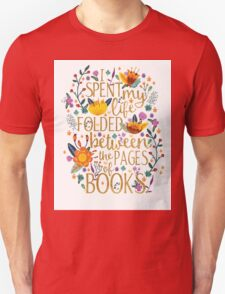 Folded Between the Pages of Books T-Shirt
