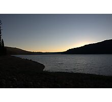 Sunset at the Reservoir Photographic Print