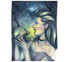 Occult Death - Witch with Skull Poster