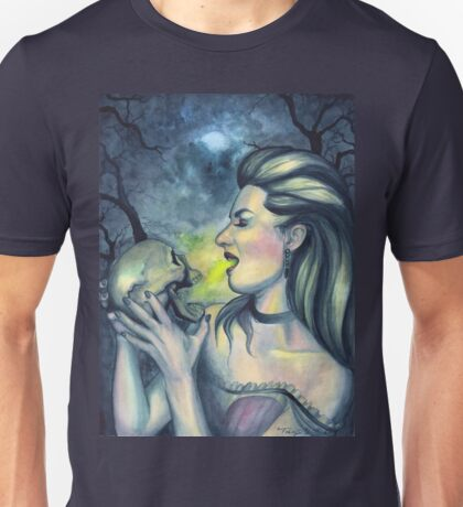 Occult Death - Witch with Skull Unisex T-Shirt