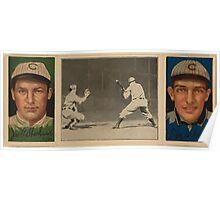 Benjamin K Edwards Collection Jas T Sheckard F M Schulte Chicago Cubs baseball card portrait Poster