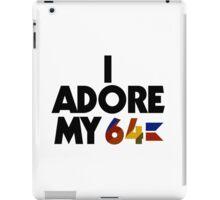 I Adore My 64 (Black) iPad Case/Skin