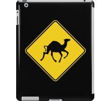 Camels Crossing, Road Sign, Australia iPad Case/Skin