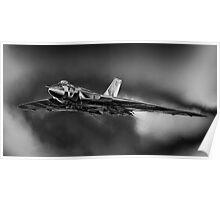 Avro Vulcan XH558 B/W Poster