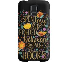 Folded Between the Pages of Books - Black Samsung Galaxy Case/Skin