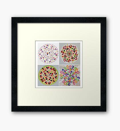 Vegetable circles Framed Print