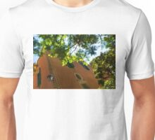 Whimsical  Building Through the Trees - Impressions Of Barcelona Unisex T-Shirt