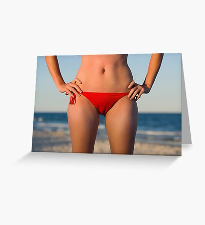 Tanned & Toned Greeting Card