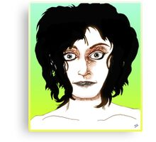 Casual Face Drawing Canvas Print