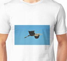 Great Blue Heron In Flight Unisex T-Shirt