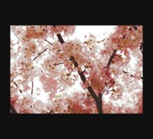 Pink Cherry Blossoms - Impressions Of Spring Kids Tee
