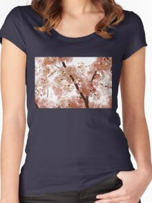 Pink Cherry Blossoms - Impressions Of Spring Women's Fitted Scoop T-Shirt