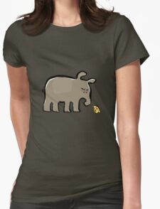 tapir vs cheese Womens Fitted T-Shirt