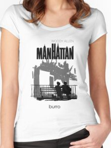 Woody Allen's Manhattan - illustration Women's Fitted Scoop T-Shirt