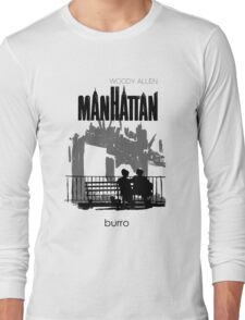 Woody Allen's Manhattan - illustration Long Sleeve T-Shirt