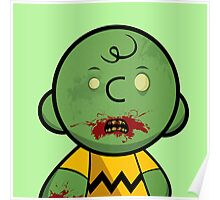 Zombie Charlie Brown Poster