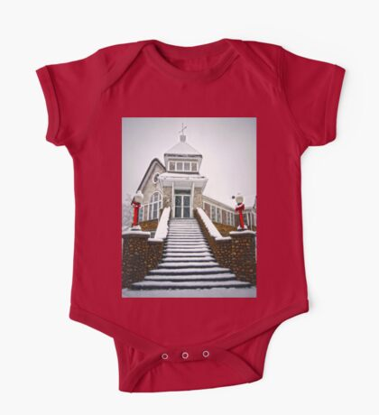 Church in the Snow One Piece - Short Sleeve