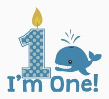 First Birthday Whale One Piece - Long Sleeve
