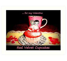 Red Velvet Cupcakes  Art Print