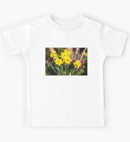 Sunny Daffodil Bouquet – Impressions Of Spring Kids Tee