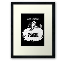 Alfred Hitchcock's Psycho by Burro! (black tee version) Framed Print